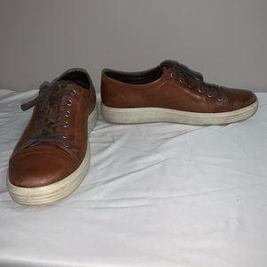Ecco Brown Leather Casual Lace Up Shoes Men's 45